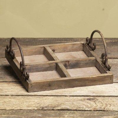 Holztablett Corsa- m- 4 Fächernvon Zauberblume