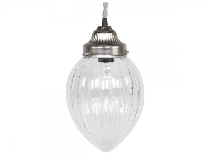 Lampe mit Rillen handgemacht von Chic Antique