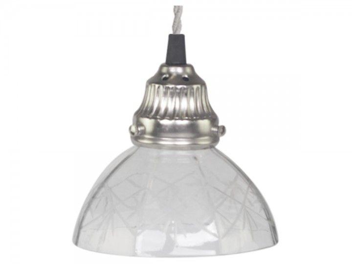 Lampe mit Schliff Glas handgemacht von Chic Antique