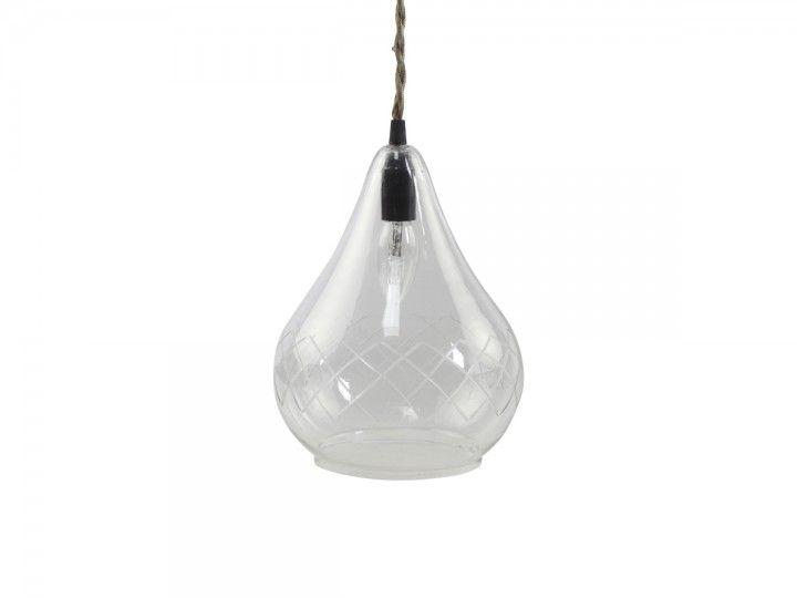 Lampe mit Schliff handgemacht von Chic Antique