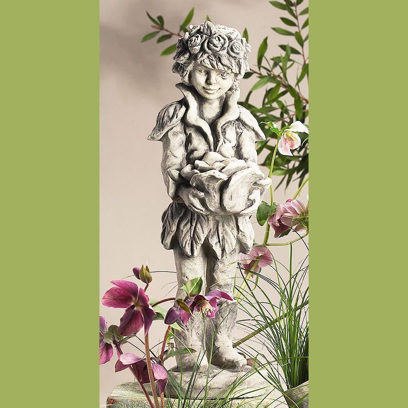 Lichterkind Rosenjunge klein- Betonguss-von Zauberblume