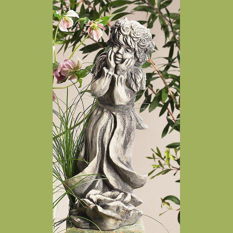 Lichterkind Rosenmädchen klein- Betonguss-von Zauberblume