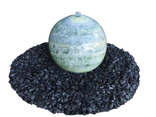 Marmor-Kugel grün- poliert