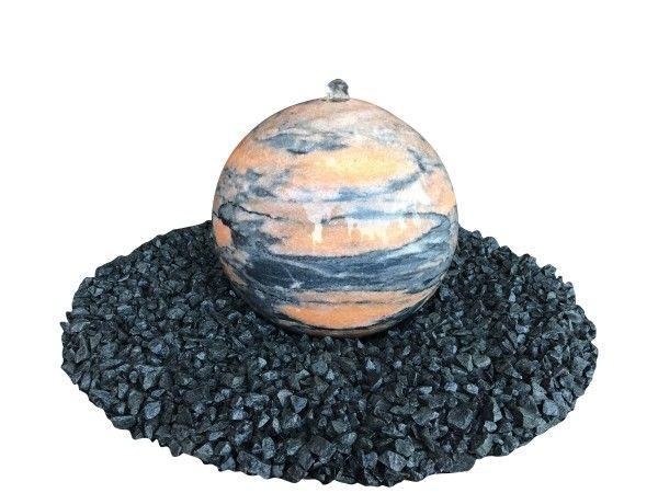 Marmor-Kugel orange- poliert von Naturstein Geukes