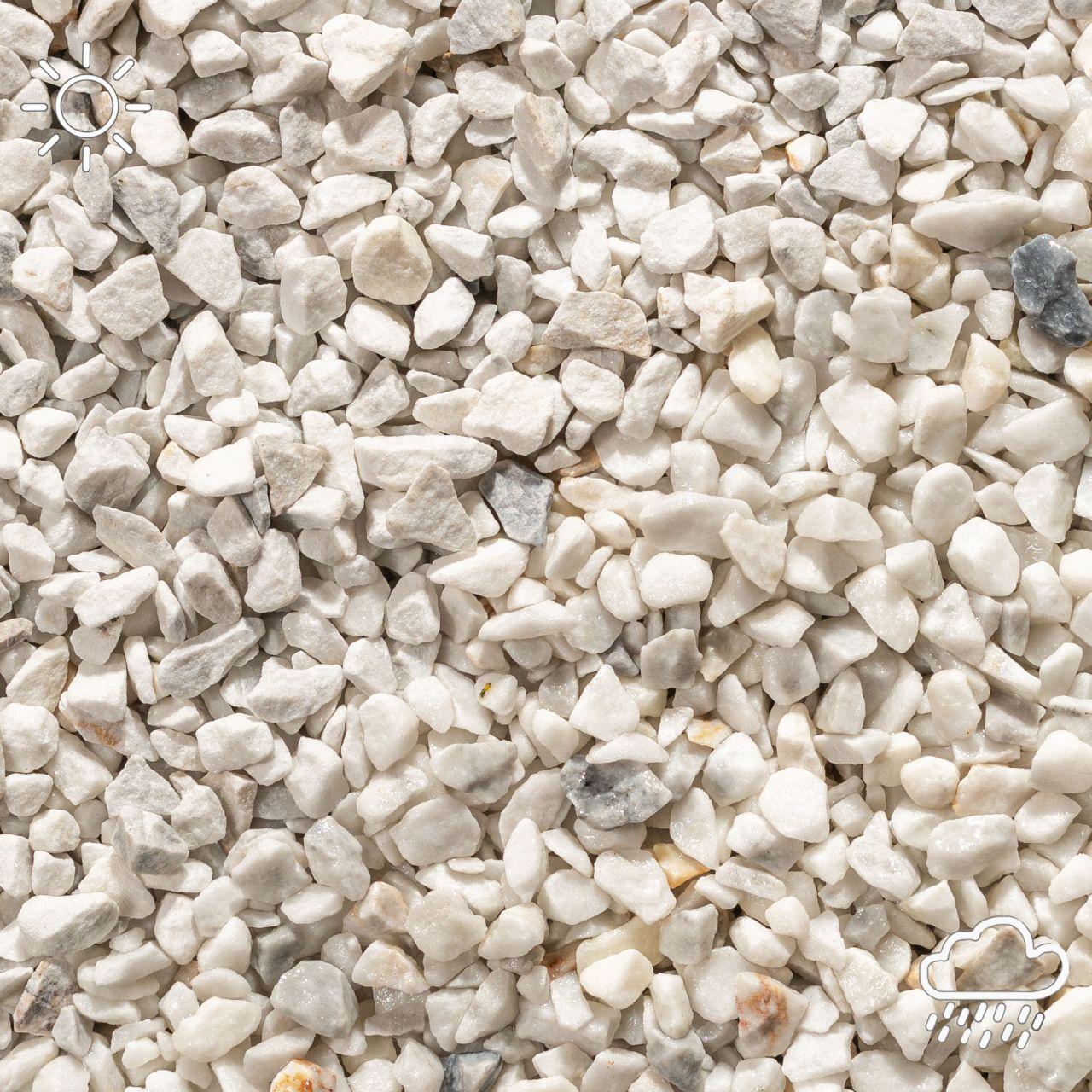 Marmorsplitt weiss- 9-12mm- 20Kg
