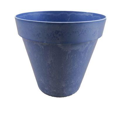 Plastiktopf Mila- rund konisch-marmoriert matt blauvon Zauberblume