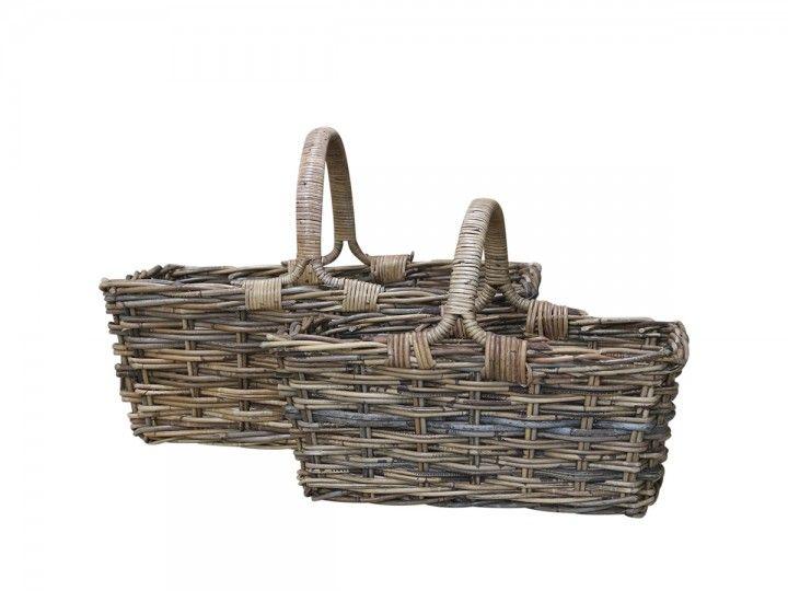 Provence Korb mit Henkel Set von 2 von Chic Antique