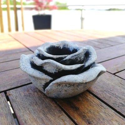Rose zum bepflanzen- klein- Zementgussvon Zauberblume