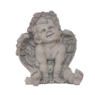 Rosenengel Maya- seidengrau matt- Resinvon Zauberblume