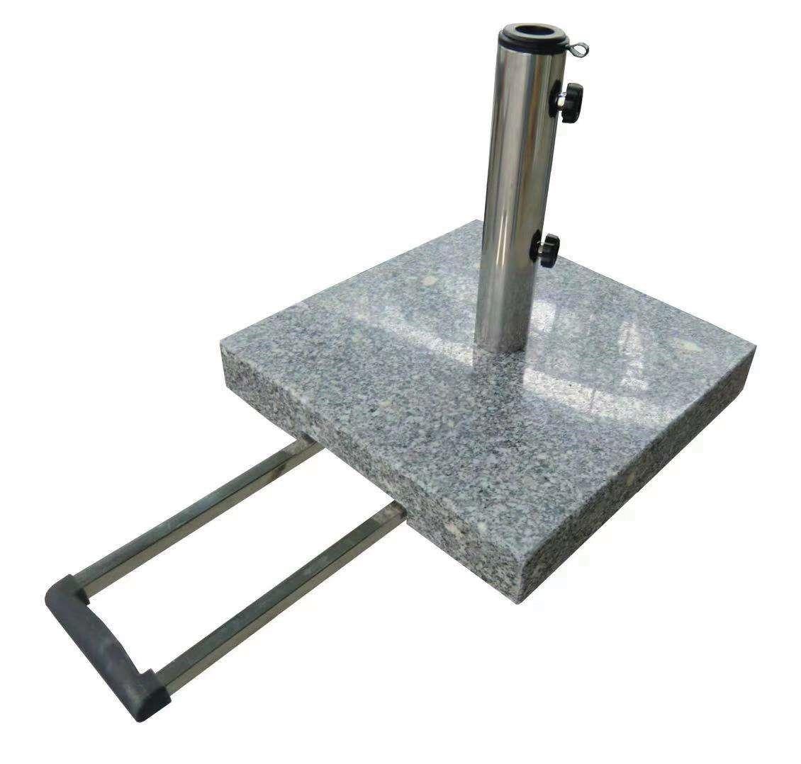 Schirmständer- granit- poliert- eckig- grau von Naturstein Geukes