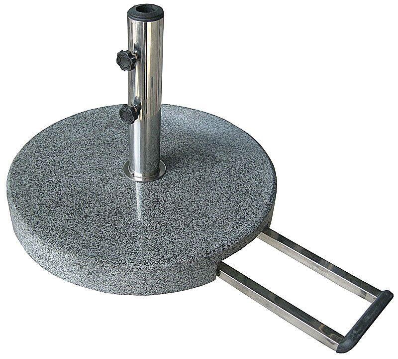 Schirmständer- granit- poliert- rund- grau von Naturstein Geukes