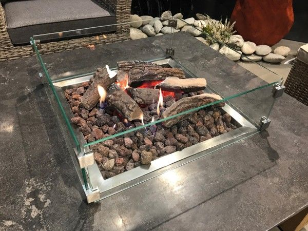 Schutzglas für Feuertisch-Ätna-Pompeji-Fuego