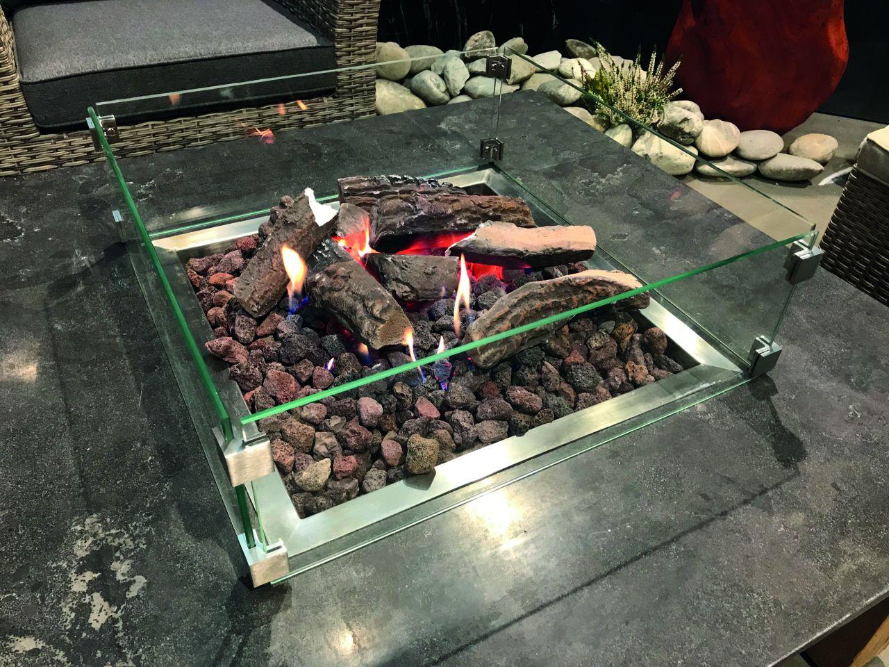 Schutzglas für Feuertisch Ätna-Pompeji
