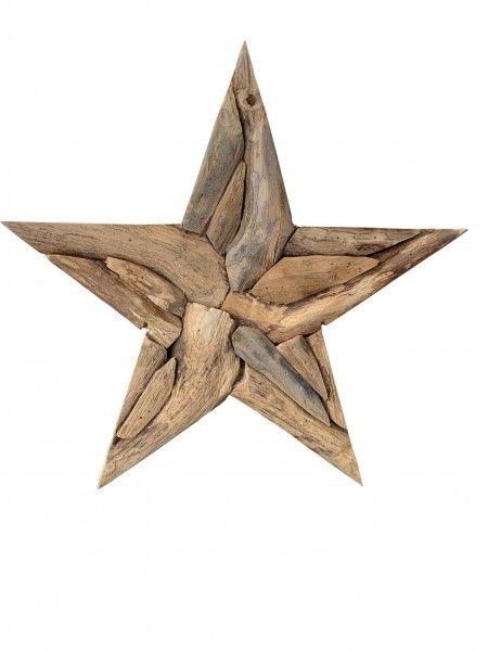 Teakholz Stern - 30 cm