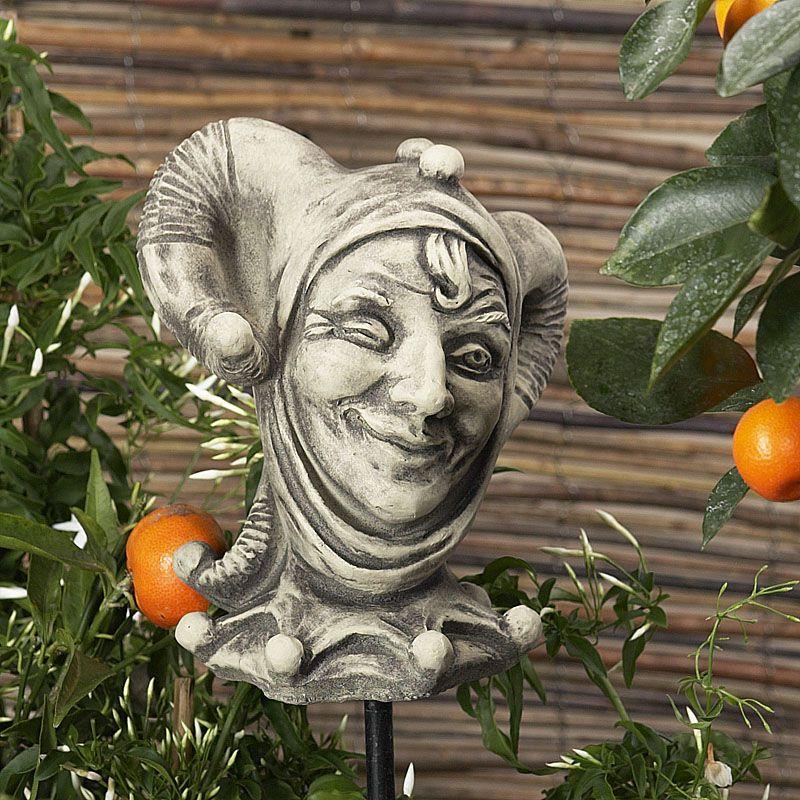 Till Eulenspiegel- Motiv 2- zum Aufstecken- Betonguss von Zauberblume