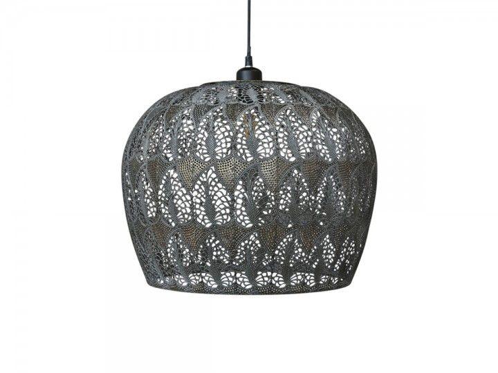 Vire alte Lampe mit Muster gross von Chic Antique