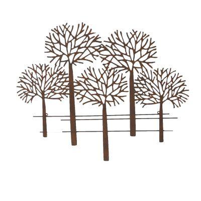 Wandbild Bäume Mata- Eisen- kleinvon Zauberblume