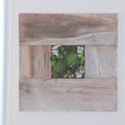 Wandbild Fabienne quadratisch- Holz- grau- grossvon Zauberblume